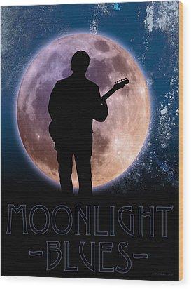 Moonlight Serenade Wood Print by WB Johnston