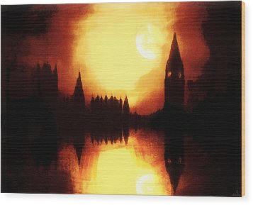 Wood Print featuring the digital art Moonlight-sonata  by Fine Art By Andrew David