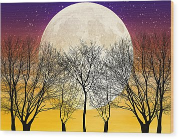 Moonlight Wood Print by Swank Photography