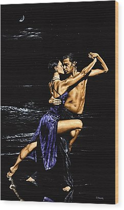 Moonlight Tango Wood Print by Richard Young