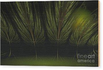 Moonlit Forest Wood Print by Sandra Bauser Digital Art
