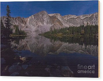 Moonlit Reflections  Wood Print