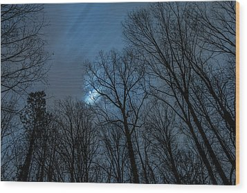 Moonlit Sky Wood Print