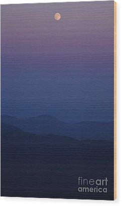 Moonrise - Mount Washington New Hampshire  Wood Print by Erin Paul Donovan