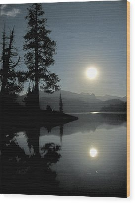 Wood Print featuring the photograph Moonrise At Edison by Larry Darnell
