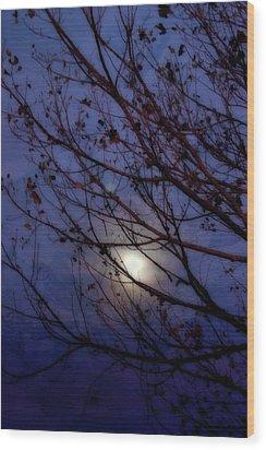 Wood Print featuring the photograph Moonrise by Ellen Heaverlo