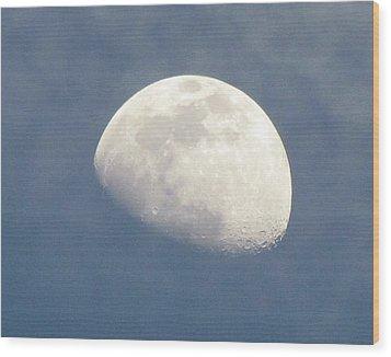 Moonrise Wood Print by Helaine Cummins