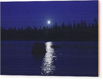 Moonrise On A Midsummer's Night Wood Print