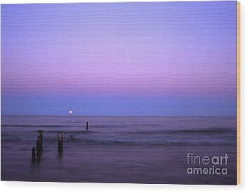 Moonrise Wood Print by Timothy Johnson