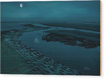 Moonscape 4 Wood Print