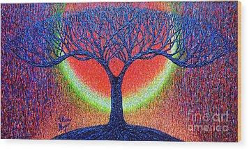 moonshine-2/God-is light/ Wood Print by Viktor Lazarev