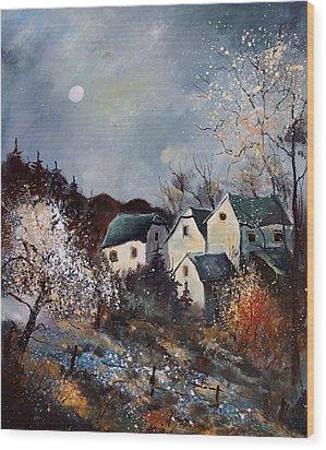 Moonshine  Wood Print by Pol Ledent