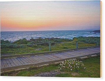 Moonstone Beach Boardwalk Wood Print by Lynn Bauer