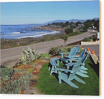 Wood Print featuring the photograph Moonstone Beach Seat With A View by Barbara Snyder