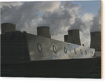 Wood Print featuring the photograph Moored Up by Jez C Self