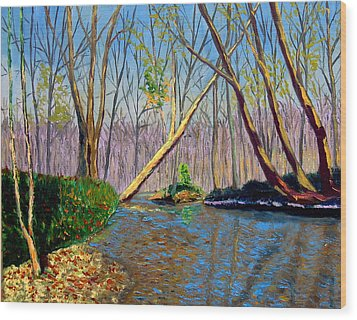 Mooresville November Wood Print by Stan Hamilton