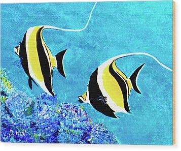 Moorish Idol Fish  #50 Wood Print by Donald k Hall