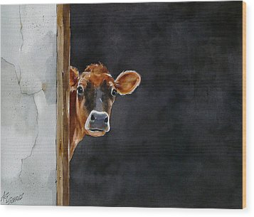 Moo's There? Wood Print by Art Scholz