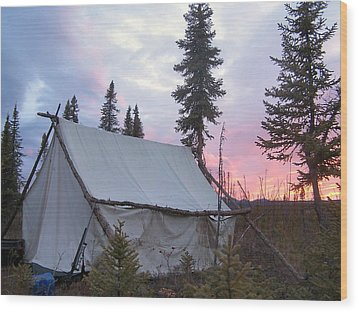 Wood Print featuring the photograph Moose Camp by Adam Owen