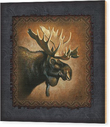 Moose Lodge Wood Print