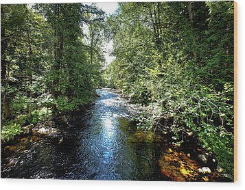 Wood Print featuring the photograph Moose River At Covewood by David Patterson