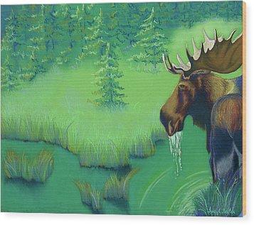 Moose Wood Print by Tracy L Teeter