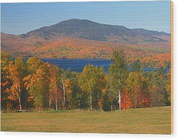 Moosehead Lake In Autumn Wood Print by John Burk