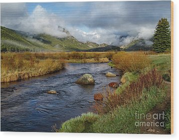 Moraine Park Morning - Rocky Mountain National Park, Colorado Wood Print