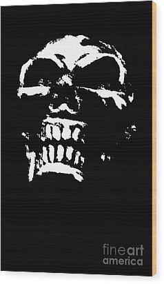 Morbid Skull Wood Print by Roseanne Jones