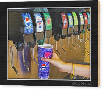 More Ice Please Wood Print by Debbie Portwood