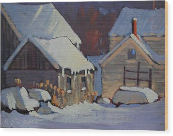 More Snow Predicted Wood Print by Len Stomski