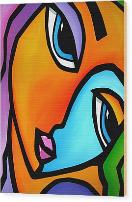 More Than Enough - Abstract Pop Art By Fidostudio Wood Print by Tom Fedro - Fidostudio