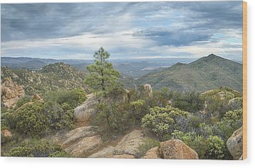 Wood Print featuring the photograph Morena Valley And Los Pinos Mountain by Alexander Kunz