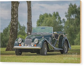Wood Print featuring the photograph Morgan Sports Car by Adrian Evans