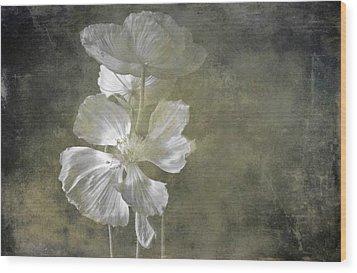 Moring Blooms Wood Print
