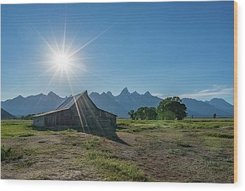 Mormon Row Wood Print