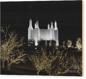 Mormon Temple 2 Wood Print by ELDavis Photography