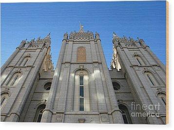 Mormon Temple Wood Print by David Lee Thompson