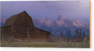 Mormon Village Wood Print by Peter Skiba