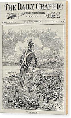 Mormons: Polygamy, 1883 Wood Print by Granger