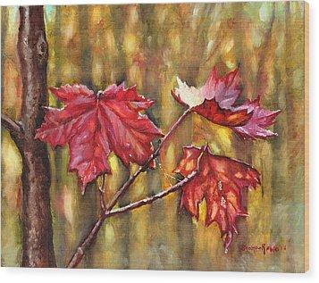 Morning After Autumn Rain Wood Print