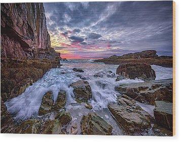 Morning At Bald Head Cliff Wood Print by Rick Berk