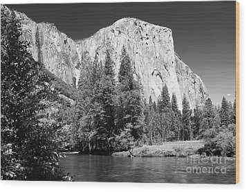 Wood Print featuring the photograph Morning At El Capitan by Sandra Bronstein