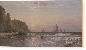 Morning At Grand Manan Wood Print by Alfred Thompson Bricher