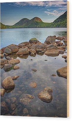 Morning At Jordan Pond Wood Print by Rick Berk