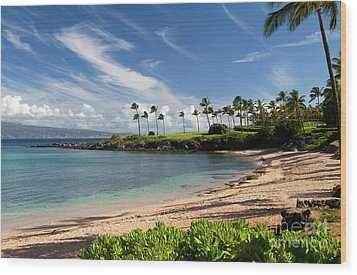 Morning At Kapalua Bay Wood Print