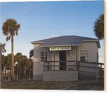 Morning At Sebastian Inlet In Florida Wood Print by Allan  Hughes