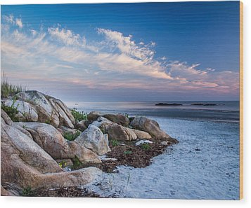 Morning At The Beach Wood Print by Tim Kirchoff