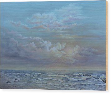 Morning At The Ocean Wood Print by Luczay
