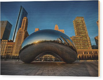 Morning Bean Wood Print by Sebastian Musial